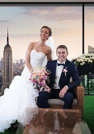młoda para na sesji ślubnej