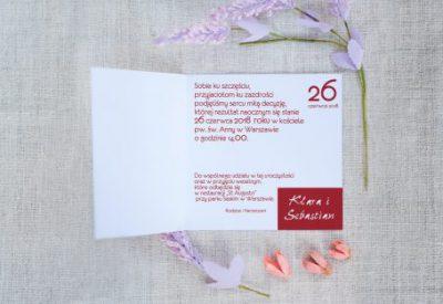 foto zaproszenie ślubne